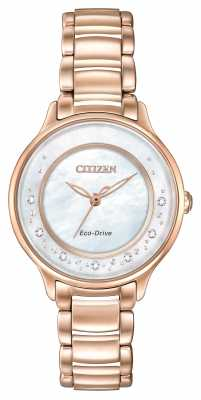 Citizen Eco-Drive L Circle Of Time Diamond Rose Gold EM0382-86D