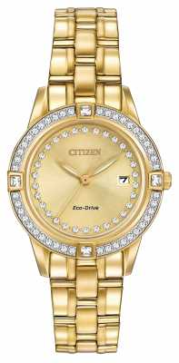 Citizen Womens Silhouette Eco-Drive Gold Plated FE1152-52P