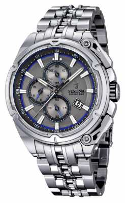 Festina Mens 2015 Chronobike, Steel, Grey Dial F16881/3
