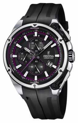 Festina Mens 2015 Chronobike, Black & Purple, Rubber F16882/6