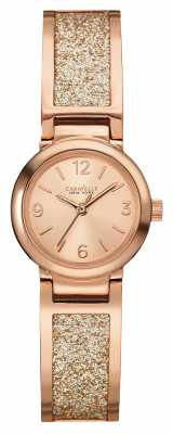 Caravelle New York Womens Rose Gold PVD Plated Stone Set 44L165