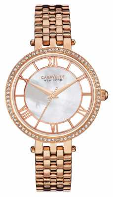 Caravelle New York Womens rose Gold PVD Plated Mother Of Pearl 44L171