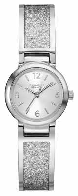 Caravelle New York Womens Stainless Steel Stone Set Bangle 43L181