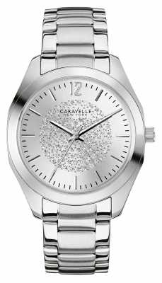 Caravelle New York Womens Stainless Steel Stone Set Dial 43L179