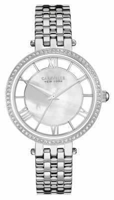 Caravelle New York Womens Stainless Steel Mother Of Pearl Dial 43L183
