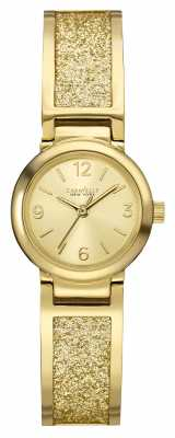 Caravelle New York Womens Pvd Gold Plated Stone Set 44L164
