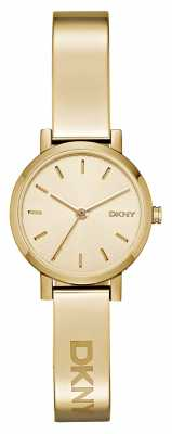 DKNY Womens Soho PVD Gold Plate Round Dial NY2307