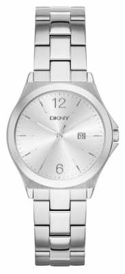 DKNY Womens Parsons Stainless Steel Silver Dial NY2365