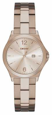 DKNY Womens Parsons Beige Gold PVD Plated NY2368