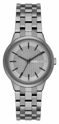 DKNY Womens Park Slope Gunmetal Grey PVD Plated NY2384