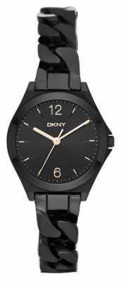 DKNY Womens Parsons Black PVD Plated NY2426