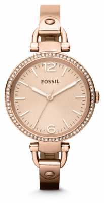 Fossil Womens Georgia Rose Gold PVD Plated ES3226