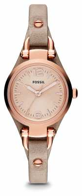 Fossil Womens Georgia Rose Gold PVD Plated Leather ES3262