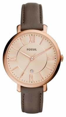 Fossil Womens Jacqueline Rose Gold PVD Leather ES3707