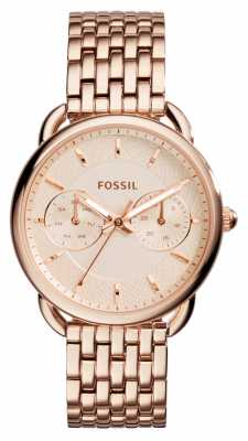 Fossil Womens Tailor Rose Gold PVD Plated ES3713