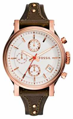 Fossil Womens Original Boyfriend Rose Gold PVD ES3616