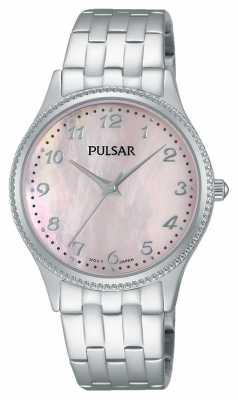 Pulsar Womens Stainless Steel Pink Dial PH8139X1