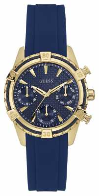 Guess Womens Catalina Blue Strap And Gold Case W0562L2