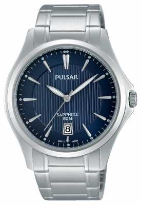 Pulsar Mens Stainless Steel Blue Dial PS9385X1