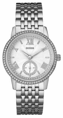 Guess Womens Gramercy Silver Stainless Steel Strap W0573L1