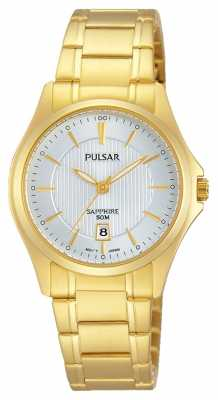 Pulsar Womens Gold Plated Silver Dial PH7424X1