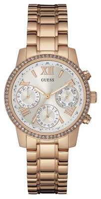 Guess Womens Mini Sunrise Rose Gold Stainless Steel W0623L2