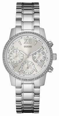 Guess Womens Mini Sunrise Silver Stainless Steel W0623L1