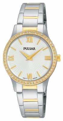 Pulsar Womens Two Tone Crystal Set PM2168X1