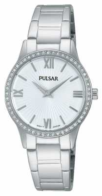 Pulsar Womens Stainless Steel Stone Set PM2171X1