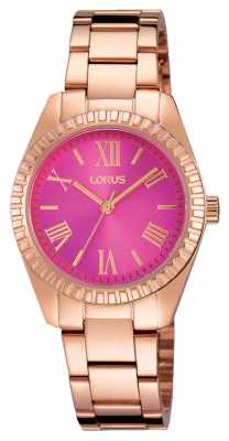 Lorus Womens Rose Gold PVD Plated Iridescent Pink RG230KX9