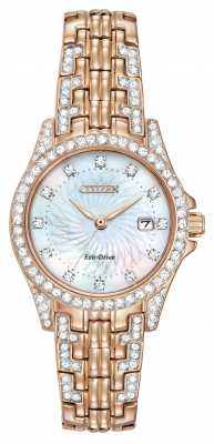 Citizen Womens Silhouette Crystal Rose Gold PVD EW1228-53D