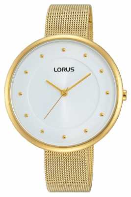 Lorus Womens Gold PVD Plated Mesh RG290JX9