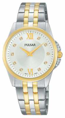 Pulsar Womens Two Tone Stone Set PM2165X1