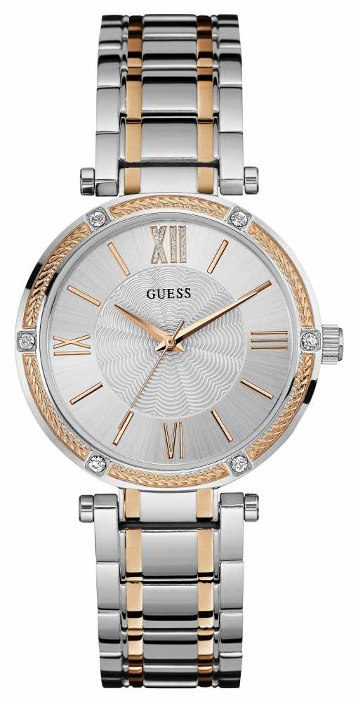 Guess Womens Park Avenue, Rose Gold & Watch W0636L1