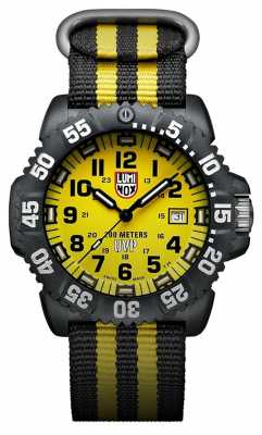 Luminox Scott Cassell 3950 Series Black Dial Yellow XS.3955.SET
