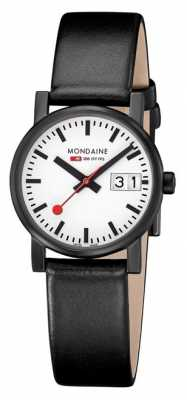 Mondaine Womens Evo Big Date Black Leather Strap A669.30305.61SBB