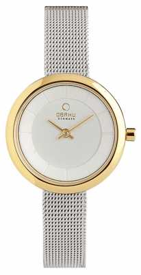 Obaku Womens Stainless Steel Mesh V146LXGIMC