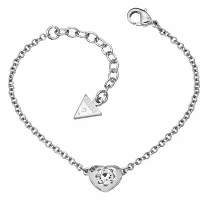 Guess Womens Crystals Of Love Mini Bracelet UBB51413