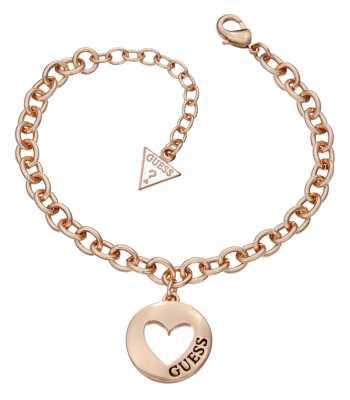 Guess Womens Crystals Of Love Pendant UBN51421