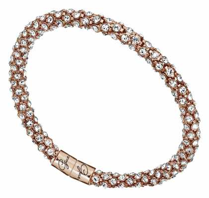 Guess Womens Glamazon Rose Gold Crystal Bangle UBB81334