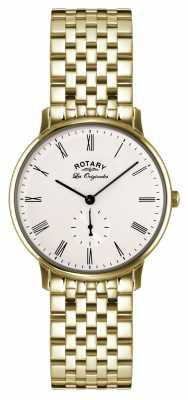 Rotary Mens Kensington, Gold Plate, White Dial GB90052/01