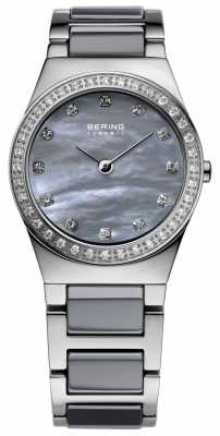 Bering Womens Stainless Steel Grey Ceramic 32426-789