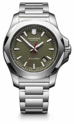 Victorinox Swiss Army Mens I.N.O.X. Stainless Steel, Green Dial Watch 241725.1