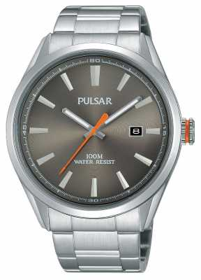 Pulsar Mens Stainless Steel Silver Dial PS9381X1