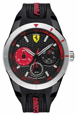Scuderia Ferrari Red Rev T Black Silicone Black Red Dial 0830254