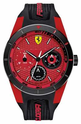 Scuderia Ferrari Red Rev Black Silicone Strap Red Dial 0830255