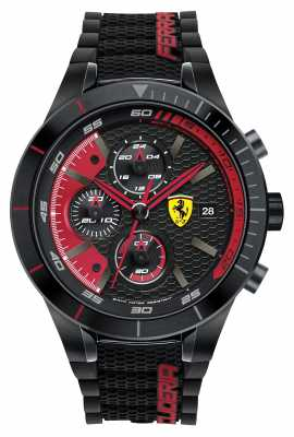 Scuderia Ferrari Mens Red Rev Evo, Black/ Red 0830260