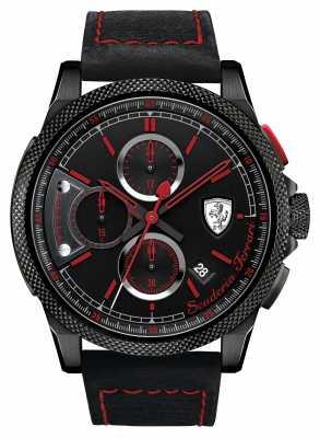 Scuderia Ferrari Formula Italia S Black/ Red Chrono 0830273