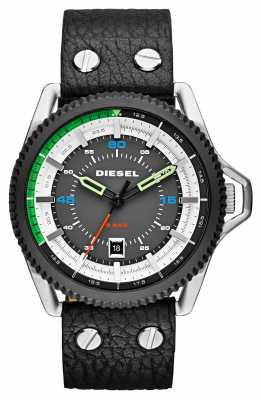 Diesel Mens Rollcage Black Leather Strap DZ1717
