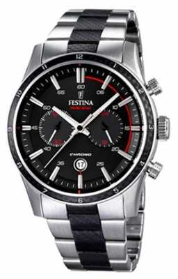 Festina Mens Tour Of Britain 2015, Black & Steel F16819/3